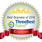 Three Best Rated Badge: Best Business of 2018