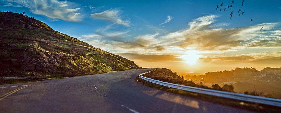 mountain road in El Paso