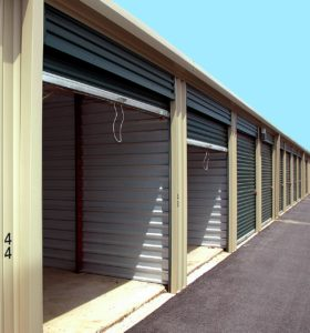 open outdoor storage units